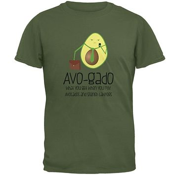 Avocado Abogado Lawyer Funny Spanish Pun Mens T Shirt