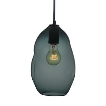 Bubble Blue Green Grey Hand Blown Glass Pendant Light- Large Limited Edition