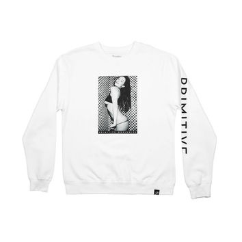 TWO TONE CREWNECK - WHITE