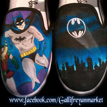 Custom Hand Painted Classic Batman shoes