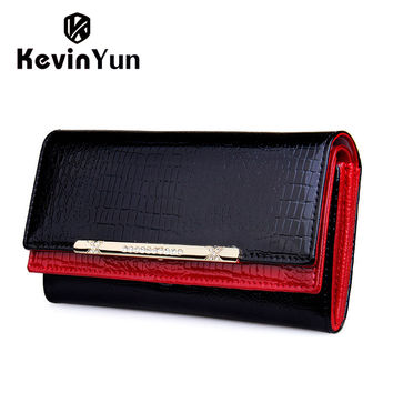 Kevin Yun Alligator Patent Leather Wallet Women Ky51880001