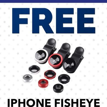 Free Labor Day PFPL01 Fisheye Camera Lens For Your iPhone Or Any Mobile Phone With Clamp Gift With Purchase