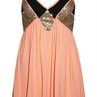 Madeline Orange Sequin Dress