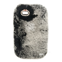 COZY FUR PHONE CASE GREY