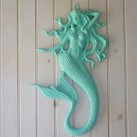 Cast Iron Wall Mermaid - PICK YOUR COLOR