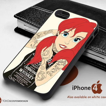 NEW Tattooed Ariel Little Mermaid for iPhone 4/4S, iPhone 5/5S, iPhone 6, iPod 4, iPod 5, Samsung Galaxy Note 3, Galaxy Note 4, Galaxy S3, Galaxy S4, Galaxy S5, Galaxy S6, Phone Case