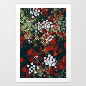 Floral Art Print by Mixed Imagery