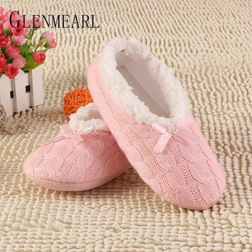 Women Warm Winter Cable Knit House Slippers/ Boots