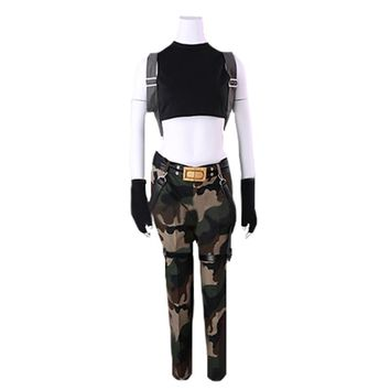 Tomb Raider Lara Croft Cosplay Costume with bag and gloves