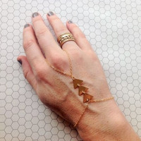 Gold filled slave chain/ hobo jewelry/ tribal/ bracelet/ triangle slave chain / Edgy / Gift