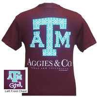 New Texas A&M Aggies & Co Delta Girlie Bright T Shirt