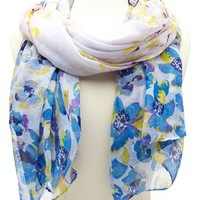 Spring Floral Lightweight Scarf: Charlotte Russe