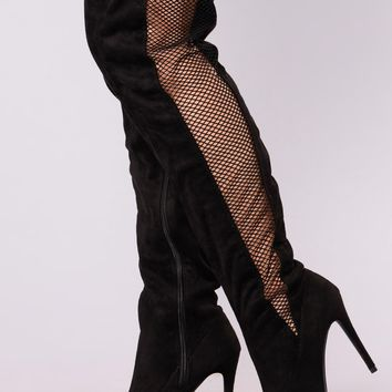 Bourdoir Over The Knee Boots - Black