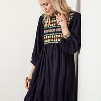 Neon Tribal Tunic - Indigo