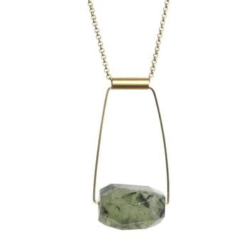 Taryn Necklace in Prehnite