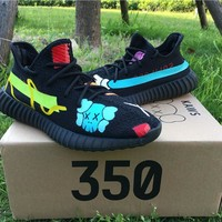 Best Online Sale Kanye West x KAWS x Adidas Consortium Yeezy 350 V2 Graffiti Boost Sport Shoes Running Shoes