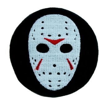 ac spbest Hockey Mask Friday the 13th Patch Iron on Applique Horror Clothing Jason Voorhees