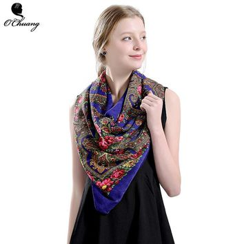 HOT Sale Russian Brand Summer Square Scarf Women headband Cotton Long bandana New Fashion Big Size scarves Shawl foulard