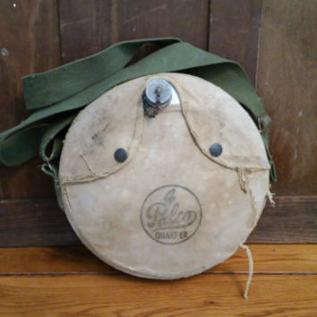 Vintage Metal Canvas Covered Palco Canteen 4 Quart-er