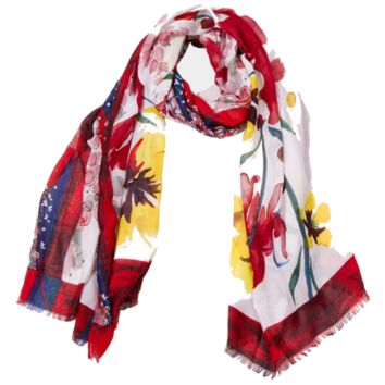Pop Flower Print Scarf