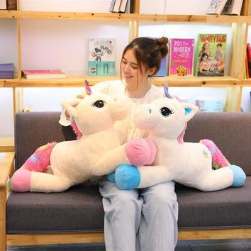40-80cm Cute Unicorn Plush Toys for Kids Stuffed Animals Soft Doll Cartoon Unicorn Animal Horse High Quality Gift For Children
