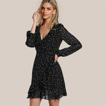 Black Dress With Sleeves | Casual Black Dress Above The Knee