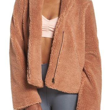Alo Cozy Up Faux Fur Crop Jacket | Nordstrom