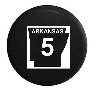 Arkansas State Route Highway 5 Scenic Route Sign RV Camper Jeep Spare Tire Cover