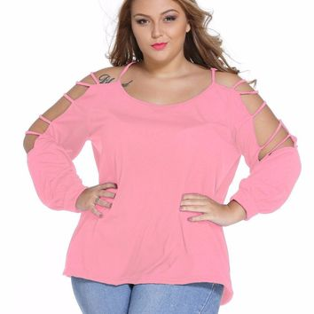 Swing Arm Long Sleeve Loose Fit Blouse