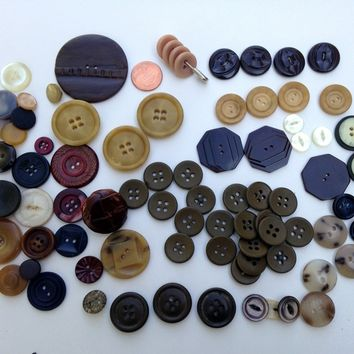 Vintage Buttons Lot of 82