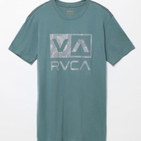 RVCA Phaser Box T-Shirt - Mens Tee - Green