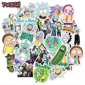 10/30/50pcs/Pack Waterproof Cartoon Rick And Morty Stickers Skateboard Suitcase Guitar Luggage Laptop Stickers Kid Classic Toy