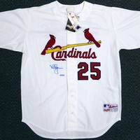 Mark McGwire Signed Autographed St. Louis Cardinals Baseball Jersey (Steiner COA)