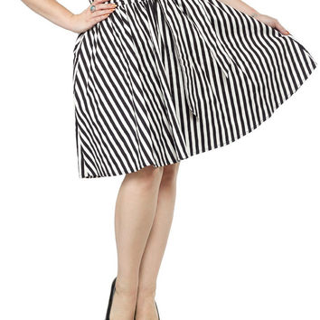SOURPUSS STRIPED SWING SKIRT