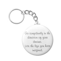 Inspirational keychains go confidently gift idea