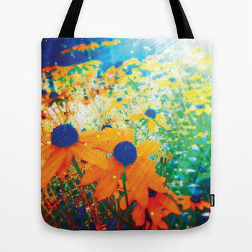Flowers in the Sun Tote Bag by NisseDesigns