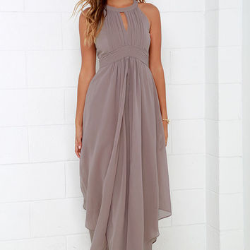 Dream Girl Taupe Maxi Dress