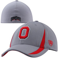 Top Of The World Ohio State Buckeyes Triumph 1Fit Flex Hat - Gray