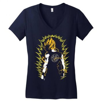 Super Saiyan Goku DBZ Women's V-Neck T-Shirt