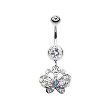 Charming Butterfly Belly Button Ring