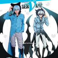 Hot New Vampire Servant SERVAMP Sleepy Ash  Animation Cosplay Costumes Coat Suit