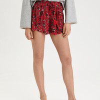 AE Printed Dolphin Short, Red