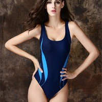 One Piece Swimsuit Plus Size XXL High Cut Sexy Swim Suits Patterns Black Swimwear