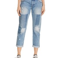 Levi's 501® Boyfriend Jeans in Stacked Patch | Bloomingdales's