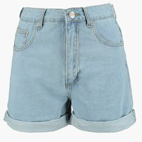 Lyndsy High Rise Mom Shorts