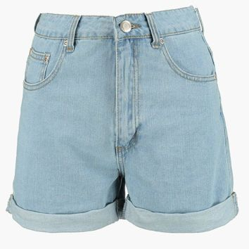 Lyndsy High Rise Denim Mom Shorts