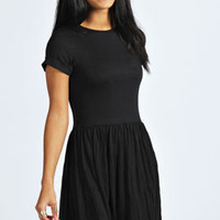 Steph Turn Back Sleeve Skater Dress
