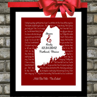 Valentines Day. Wedding Gift. Song Lyrics. Love Map. Print Art - Any Location, Any Song - Unique Wedding, Engagement or Anniversary Gift