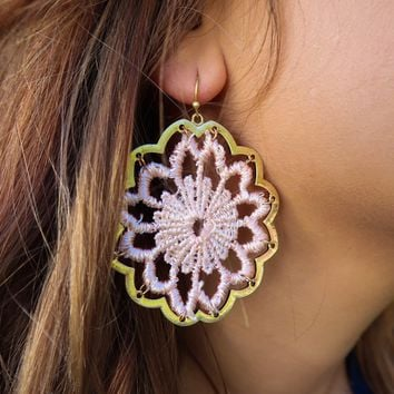 She's A Believer Earrings: Soft Pink/Gold