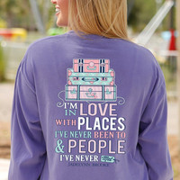 Jadelynn Brooke In Love With Places Long Sleeve Southern Preppy Tee INLOVEWITHPLACES-LS